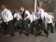 Omega Psi Phi Groom and groomsmen doing dance Non White Wedding Dresses, White Gowns, Groom Wear, Groom And Groomsmen, Strange Photos, Crazy Photos, Blue Wedding Rings, Art Gallery Wedding, Mother Son Dance