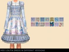 Lolita Dress by midnightskysims at SimsWorkshop • Sims 4 Updates
