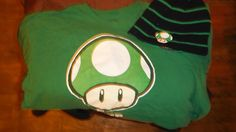 Classic Super Mario reversable Toad Hat and T shirt Combo !! - Unisex & T-Shirts