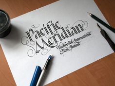 Calligraphy & Lettering Logos. Behind the scenes by Evgeny Tkhorzhevsky, via Behance