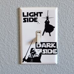 A light switch for Star Wars fans. Check out more geek stuff at www.geekgenesis.com, a place for geek