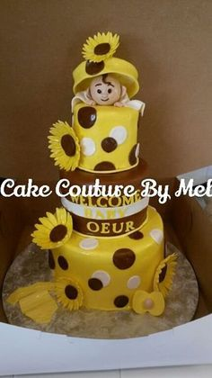 Good Sunflower Baby Shower Cake