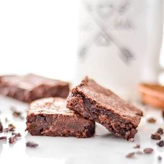 """Fudgy Flourless Paleo Brownies taste better than """"normal"""" brownies and are allergy friendly! Gluten-free, dairy-free, nut-free with no refined sugar!"""