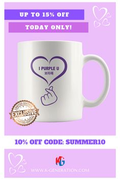 💜 ARMY, make a nice cup of tea with this very sweet Mug!  😎 You will get lots of compliments on this Custom Made LIMITED EDITION Mug!  ⚠️ Sold out in 10 hours last time 😢 Our sale is ending today - HURRY NOW!  👆 CLICK LINK IMAGE TO SHOP👆  #ipurpleu #ipurpleyou #ipurplebts #ipurpletaehyung #ipurplekimtaehyung #btsmug #mugbts #kpopmug