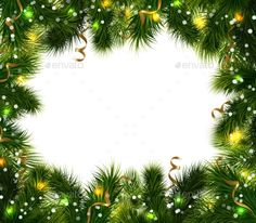 Christmas decorative background with green fir branches colorful festive ribbons and balls vector illustration. Editable EPS and Render in JPG format