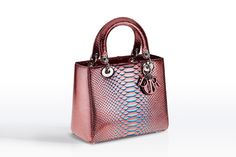 DIOR - Lady Dior Phyton Metallic Leather
