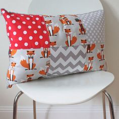 Cuddle Pillow Cover - Dapper Mr Fox, Nursing Chair Pillow, the perfect cushion to snuggle and nurse with on Etsy, $35.00 AUD