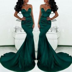 Charming Green Mermaid Prom Dress,Sexy Sleeveless Sweetheart Evening Dress ,Sexy Backless Prom Dress