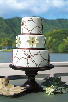 silvery blue and brown #weddingcake