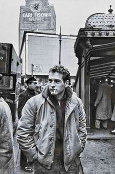 Paul Newman in New York City during the filming of Somebody Up There Likes Me, 1956.