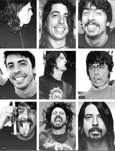 Dave Grohl from 1993 to now ;)
