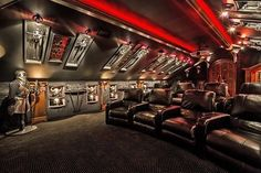 10 High-End Home Theater Designs – My Life Spot Movie Theater Rooms, Home Cinema Room, Theatre Rooms, Best Home Theater, Home Theater Design, Gamer Room, Home Movies, My Dream Home, Future House