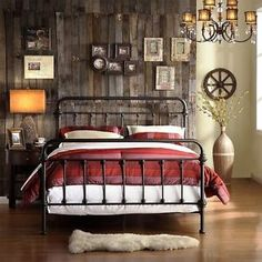 King Size Bed Antique Wrought Iron Victorian Metal Headboard Footboard Frame
