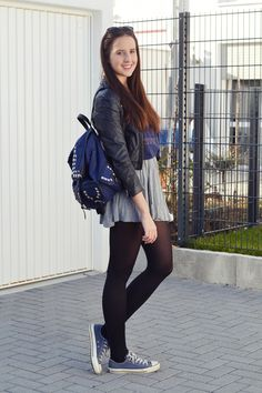 black and sneakers