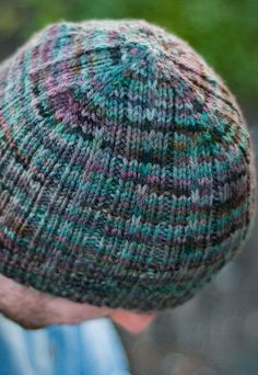1b171028087 Knitting Pattern for Easy Backroads Hat - Very easy unisex slouch beanie  features a slip stitch