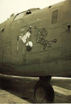 """B-24 Liberator """"Belle Wringer"""" nose art"""