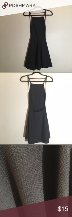 NWOT High neck backless skater dress Textured fabric, apron top, backless Dresses Backless