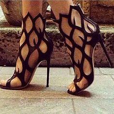 Women's Shoes Leather Stiletto Heel black sandals shoes – EUR € 59.99