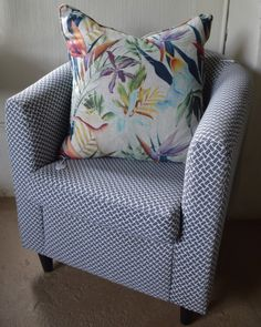 Giving an old tub chair a modern twist with Hertex fabrics