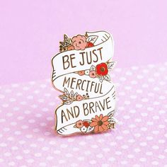 Be Brave Enamel Pin Narnia Pin Lapel Pin Enamel pins The Magicians Nephew, Pin And Patches, Cute Pins, Pin Badges, Narnia, Lapel Pins, Pin Collection, Just In Case, Brave