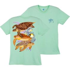 Guy Harvey Women's Cayman Turtle Reef T-shirt:Mint | Dick's Sporting Goods. Size…