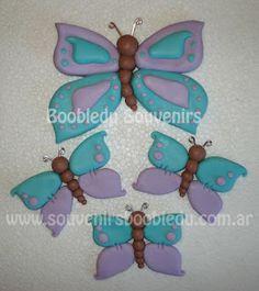 MARIPOSAS EN PORCELANA FRIA | Souvenirs Boobledu