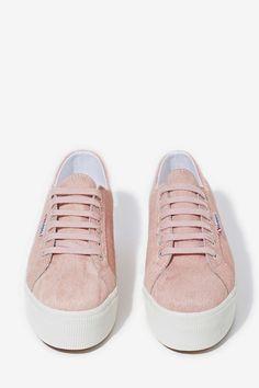 Superga Pink Platform Sneaker//