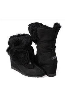 UGG Wedge Short Boots Black