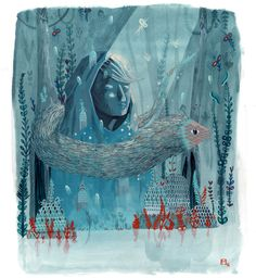 blue roc by Sarah Murat, via Behance