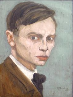 Jan Mankes autoportrait - 1918.