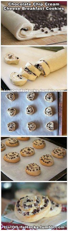 Chocolate cream cheese rolls :)