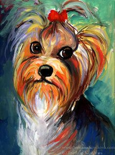 yorkie painting | Flickr - Photo Sharing!