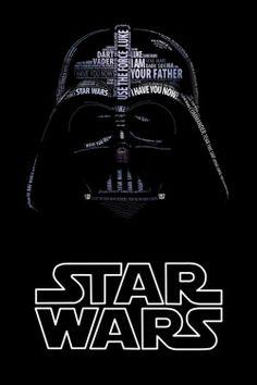 Star Wars Typographic Portraits  by Vladislav Poliakov