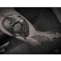 Tattoo by Ien Levin Great Tattoos, Glyphs, Animal Drawings, Tattoo Artists, Piercing, Kiev Ukraine, Ink, Instagram Posts, Fonts