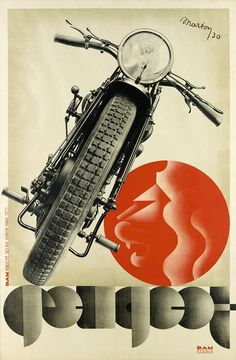PEUGEOT motorcycles,1930. Designed by Lajos Marton 1891-1952.