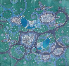 silk painting audratextilestudio