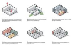 86 new homes at Sundmolen in Copenhagens inner Nordhavn district. Pop Design, Design Lab, University Architecture, Architecture Student, Architecture Design, Architecture Concept Diagram, Architecture Collage, Urban Design Concept, Interior Design Presentation