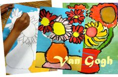 Deep Space Sparkle – Van Gogh Sunflowers Art Lesson