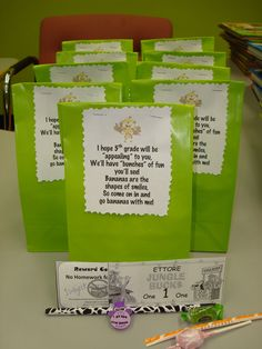 1st day welcome bags