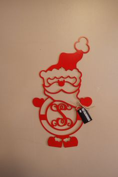 Hey, I found this really awesome Etsy listing at https://www.etsy.com/listing/211735494/metal-monogram-santa-claus-door-hanger