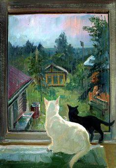 http://catsfineart.com/assets/images/cats/CatInWindow/db_Victor_Lukyanov_Summer_Rain1.jpg