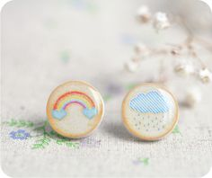 Happiness - accessories bright colorful colorful art earrings happy home decor pastel accessories pastel decor pastels pillow cover pocket mirror polka dots rainbow treasurybox wall art watercolor wild Tiny Stud Earrings, Cute Earrings, Pastel Decor, Rainbow Cloud, Resin Ring, Leather Jewelry, Christmas Sale, Charm Jewelry, Me Too Shoes