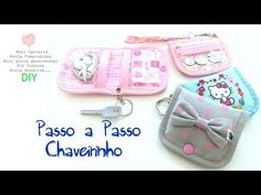 Chaveiro Multiuso - D.I.Y. - YouTube Quilting, Pouch Tutorial, Baby Shoes, Coin Purse, Patches, Back To School, Diy Crafts, Make It Yourself, Wallet