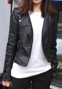 Black Zipper Jacket - Sheinside.com