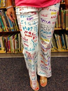 """Let students sign a pair of pants to celebrate the completion of testing. Teachers-Wear your """"SMARTIE PANTS"""" with pride!"""