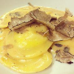 Potato Ravioli served with a parmigiano reggiano fondue and shaved truffle