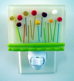 Fused Glass Contemporary or Country Night Light