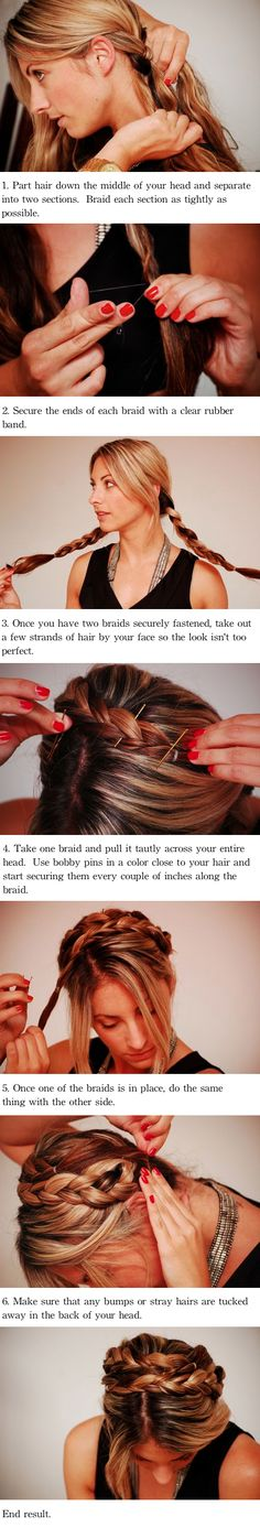 Braided updo tutorial #hair