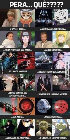 What if Naruto was influenced by Star Wars? Or Star Wars was influenced by Naruto? Manga Naruto, Naruto Shippuden Anime, Itachi, Gaara, Uzumaki Boruto, Anime Meme, Otaku Anime, Manga Anime, Funny Naruto Memes