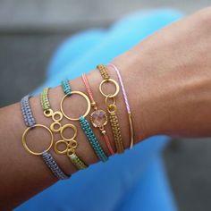 """Lines Across"": Beaded Hemp Bracelet (and 15 tutorials to add beads to friendship bracelets)"